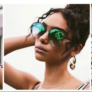 Brand new with tags green quay aviators.